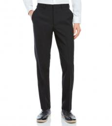 Black Solid Dress Pants