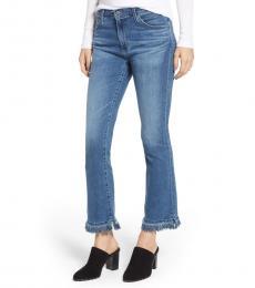 Light Blue Jodi Crop Fringe Jeans