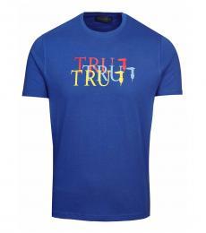 Trussardi Blue Graphic Logo T-Shirt