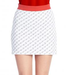 White All Over Logo Skirt