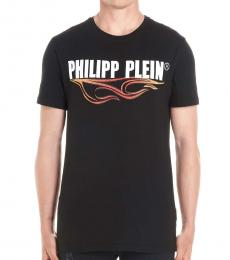 Philipp Plein Black Flame Logo T-Shirt