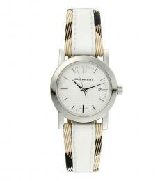Burberry White Logo Modish Watch
