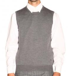 Grey Wool Sleeveless Sweater