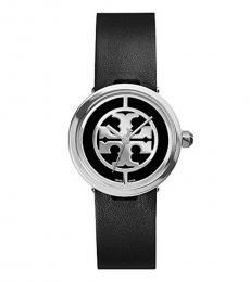 Tory Burch Black Silver Reva Watch