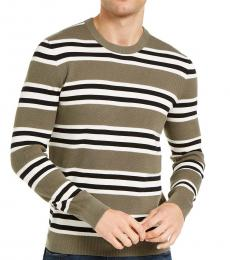 Sage Green Sashan Striped Sweater