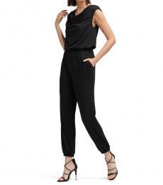DKNY Black Cap Sleeve Jumpsuit