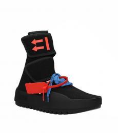 Off-White Black Moto Wrap Sneakers
