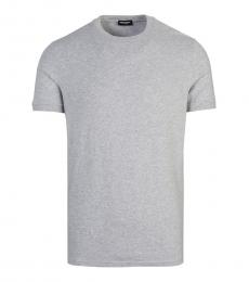 Dsquared2 Grey Solid Pullover T-Shirt