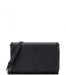 Tory Burch Black Thea Flat Small Crossbody