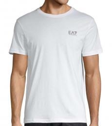 White Cotton Crewneck T-Shirt