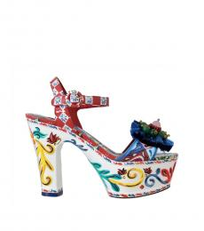 Dolce & Gabbana Multicolor Handpainted Heels