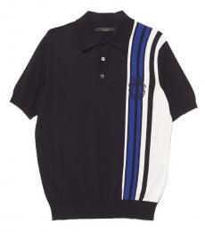 Billionaire Navy Blue Embroidery Logo Polo