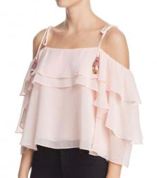 Rebecca Minkoff Light Pink Ruffled Top