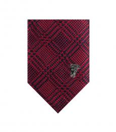Versace Red Stripe Silk Tie