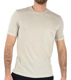 Neil Barrett Beige Pocket Slim Fit T-Shirt
