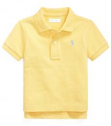 Baby Boys Oasis Yellow Mesh Polo