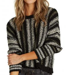 Billabong Black Cotton Cropped Sweater