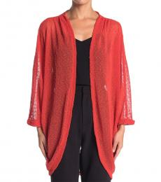 Vince Camuto Red Knit Cocoon Cardigan