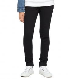 Calvin Klein Little Girls Black Skinny Fit Mid Rise Jeans