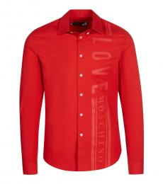 Love Moschino Red Side Logo Shirt