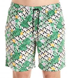 Billionaire Green Palms Swim Shorts