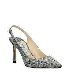 Jimmy Choo Silver Erin Slingback Heels
