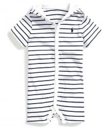 Ralph Lauren Baby Boys French Navy Multi Striped Jersey Shortall