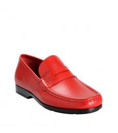 Salvatore Ferragamo Red Gioele Loafers