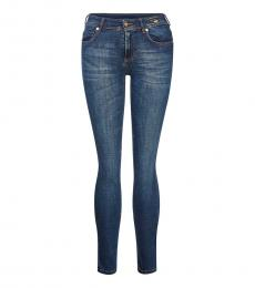 Versace Jeans Blue Mid Rise Skinny Jeans