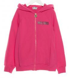 Moschino Little Girls Pink Teddy Hoodie