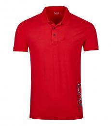 Emporio Armani Red Side Logo Polo