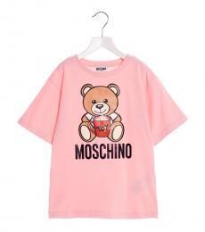 Little Girls Pink Teddy Toy T-Shirt
