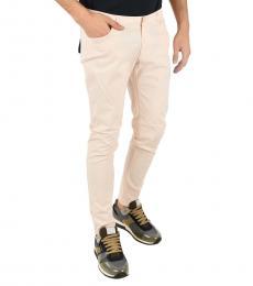 Armani Jeans Light Pink Stretch Cotton Pants