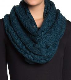 Michael Kors Atlantic Blue Cable Knit Infinity Scarf