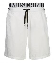 Moschino White Logo Swimmimg Trunk