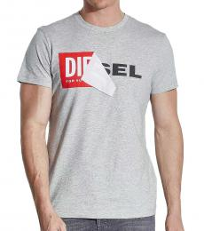 Diesel Grey Graphic Logo T-Shirt