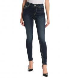 True Religion Blue Jennie Big T Curvy High Rise Skinny Jeans