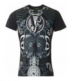 Versace Jeans Black Graphic Print Logo T-Shirt