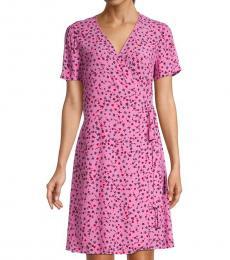Floret Pink Printed Wrap Dress