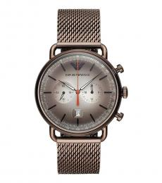 Emporio Armani Brown Chrono Watch
