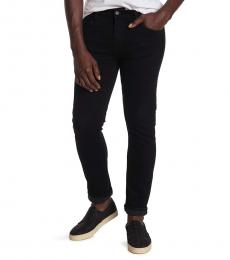 7 For All Mankind Black Paxtyn Skinny Fit Jeans