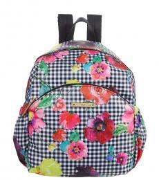 Betsey Johnson BlackWhite Lexi Medium Backpack