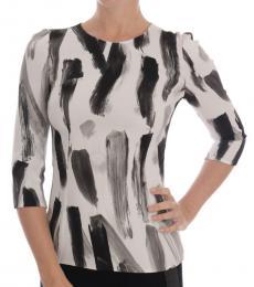 Dolce & Gabbana White Striped Top