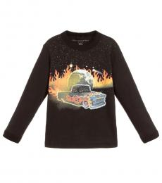 Stella McCartney Boys Black Graphic T-Shirt