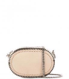Beige Falabella Oval Mini Crossbody