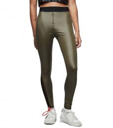 True Religion Green Mesh Legging