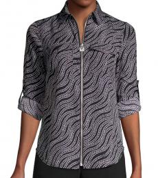 Michael Kors Black Chain-Print Shirt