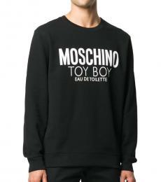 Moschino Black Teddy Boy Print Sweatshirt