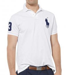 Ralph Lauren White Big Pony Custom Fit Polo