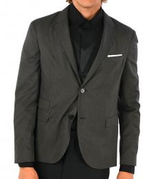 Grey Single Breasted Blazer